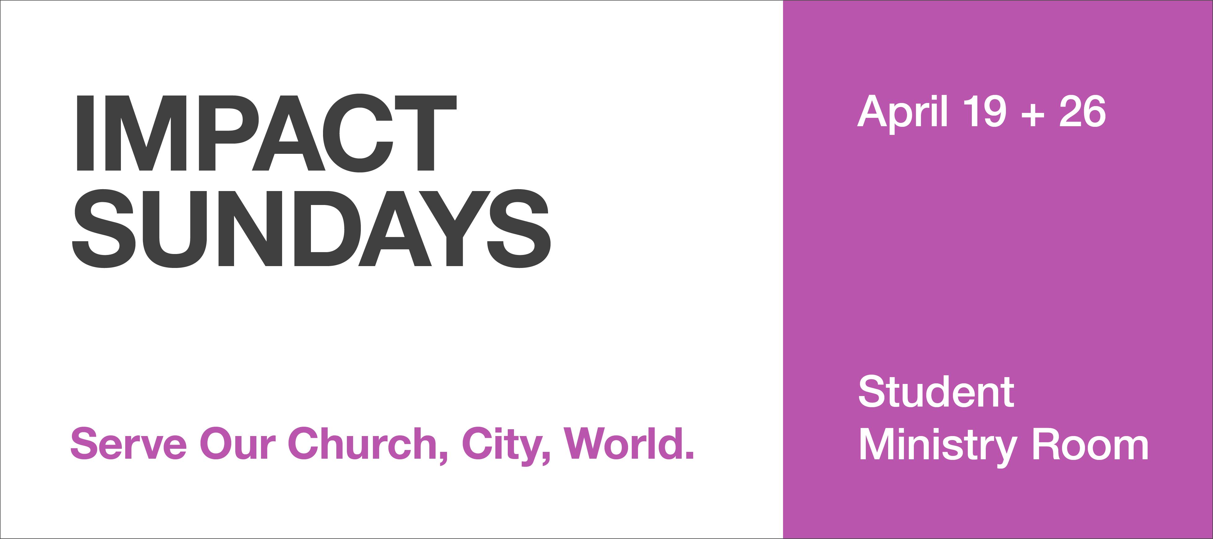 homepage | banner | impact sundays 2015